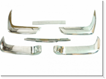 P1800 Stainless Steel Bumpers Set - Cowhorn