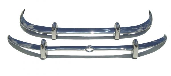 Jaguar E Type Series 2 Bumpers in stainless steel 1969 - 1971